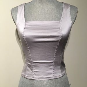 2/$25💞 Lilac silver vintage fitted crop tank top